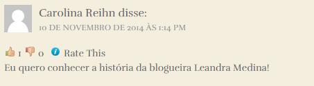 Comentário Carolina
